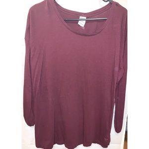 Simple long sleeve maroon shirt